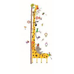 Medidor de altura adhesivo reutilizable Jirafa