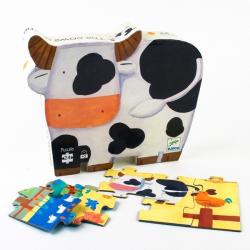 Puzzle silueta. Las vacas. 24 pcs