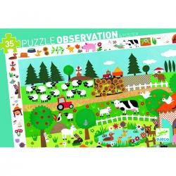 Puzzle observación. La granja. 35 pcs