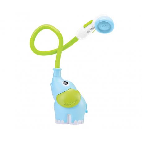Ducha de bañera. Elefante azul