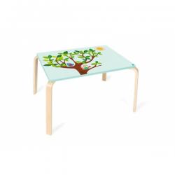 Mesa de madera rectangular Búho