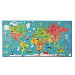 Puzzle mapa del mundoi. 150 piezas.