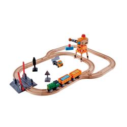 Circuito de tren de carga con manivela