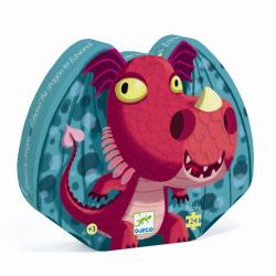 Puzzle Silueta. Edmond el dragón. 24 pcs.