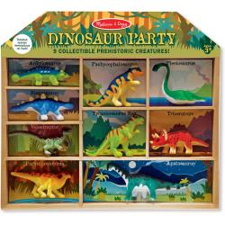 Conjunto de 9 dinosaurios.