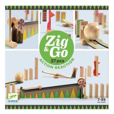 Juego de reacción en cadena. Zig & Go. 27 pcs.