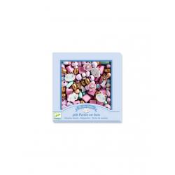 400 perlas de madera. Arcoíris