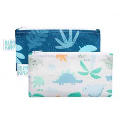 2 bolsas snack pequeñas. Dinosaurios y Blue tropic