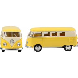 Furgoneta VW de fricción. Rosa y amarillo