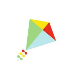Cometa multicolor. 60 cm.