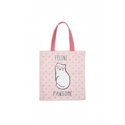 Bolsa de tela. Color rosa. Feline Pawsome
