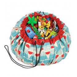Bolsa de almacenaje y manta de juego. Badminton