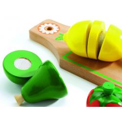Frutas y verduras para cortar.
