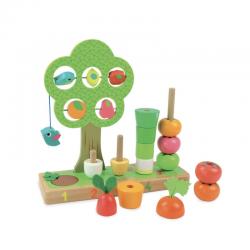Árbol aprendo a contar con las verduras.