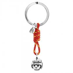 Llavero Playmobil. Smile. Color rojo