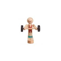 Acróbata levantamiento de pesas