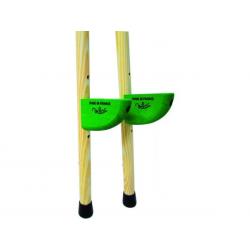 Zancos de madera. 130 cm.