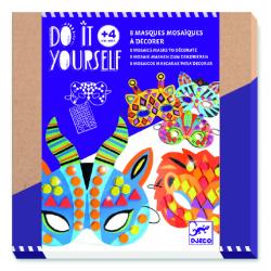 8 máscaras con mosaicos para decorar. DJECO