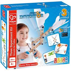 Juego de construcción, Junior Inventor. Kit de 3 inventos. HAPE