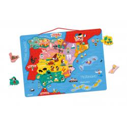 Puzzle Mapa magnético de la Península Ibérica. 60 piezas. JANOD