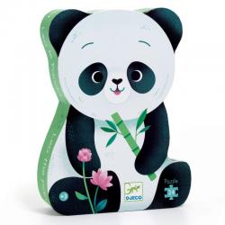 Puzzle silueta, Leo el panda. 24 piezas. DJECO