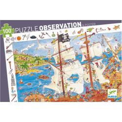 Puzzle Observación, Los piratas. 100 pcs. DJECO