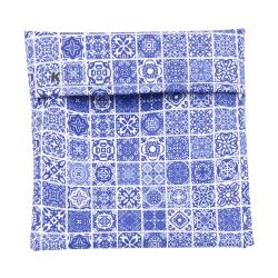 Bolso portabocadillos, geometric blue. IMASKKI
