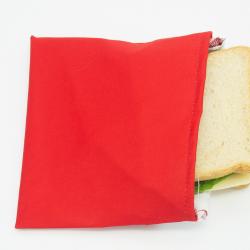 Bolso portabocadillos, color rojo. IMASKKI