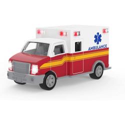 Mini ambulancia con luz y sonido. DRIVEN