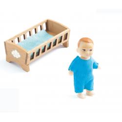 Casa de muñecas, el bebé Sacha. DJECO