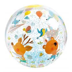 Pelota inflable con burbujas. DJECO