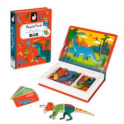 Libro con imanes de dinosaurios. Magneti' Book. JANOD