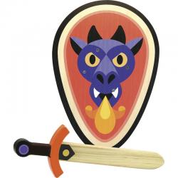 Escudo y espada de madera. VILAC