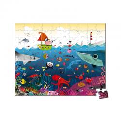 Puzzle de 100 piezas. El mundo submarino. JANOD