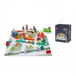 Juego de construcción + puzzle. Kubix, 60 piezas. JANOD